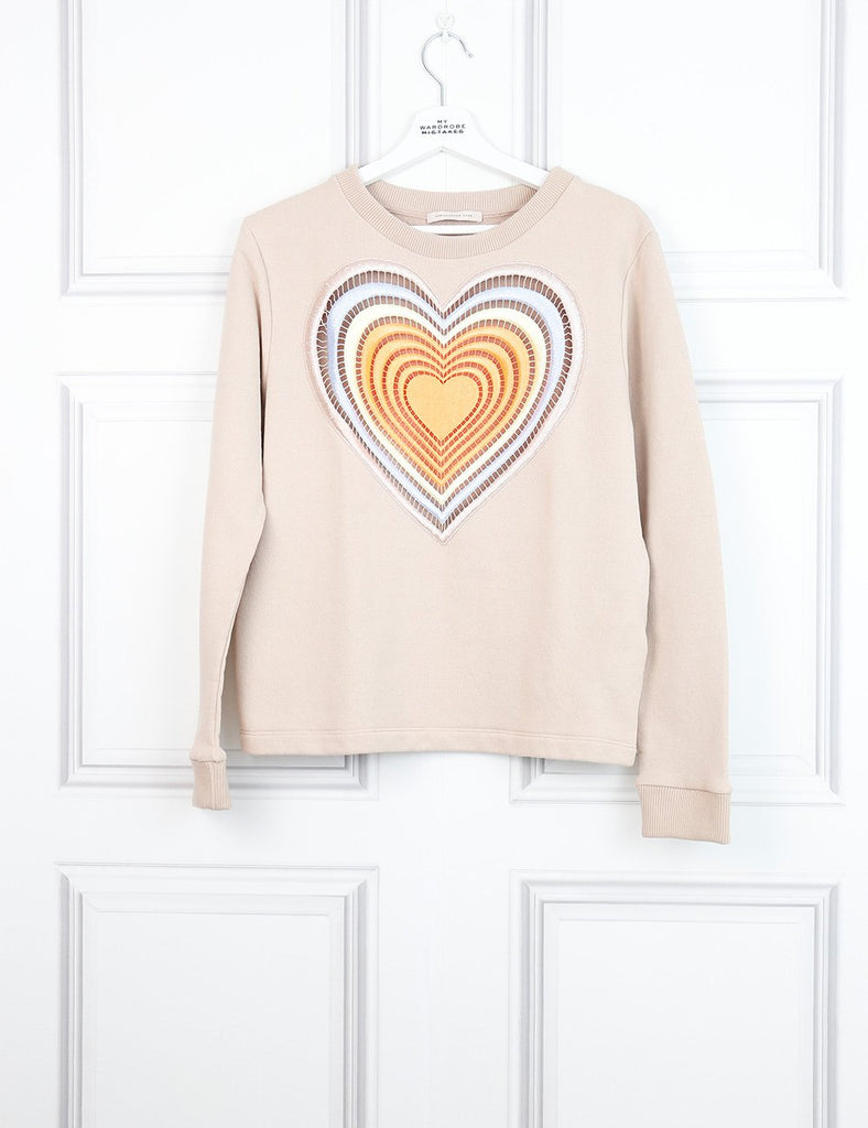 Christopher Kane multicolour multi hearts sweater 8UK- My Wardrobe Mistakes