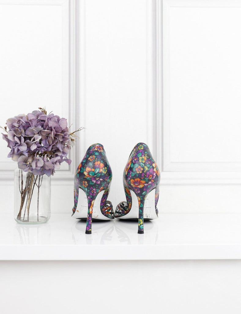 D&G multicolour floral pumps with cutout details 4.5UK- My Wardrobe Mistakes