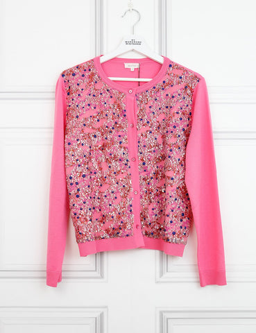 DELPOZO CLOTHING 10UK-42IT-38FR / Multicolour DELPOZO Sequin-embellished merino cardigan