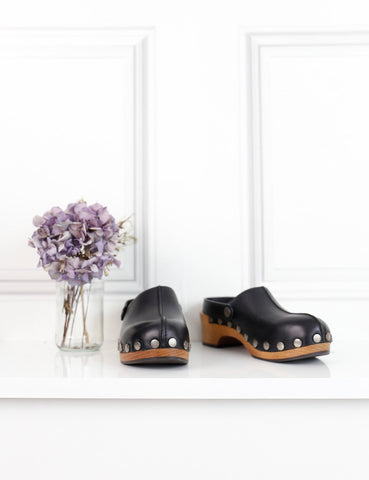 Dior black diorquake leather clogs 4.5Uk- My Wardrobe Mistakes