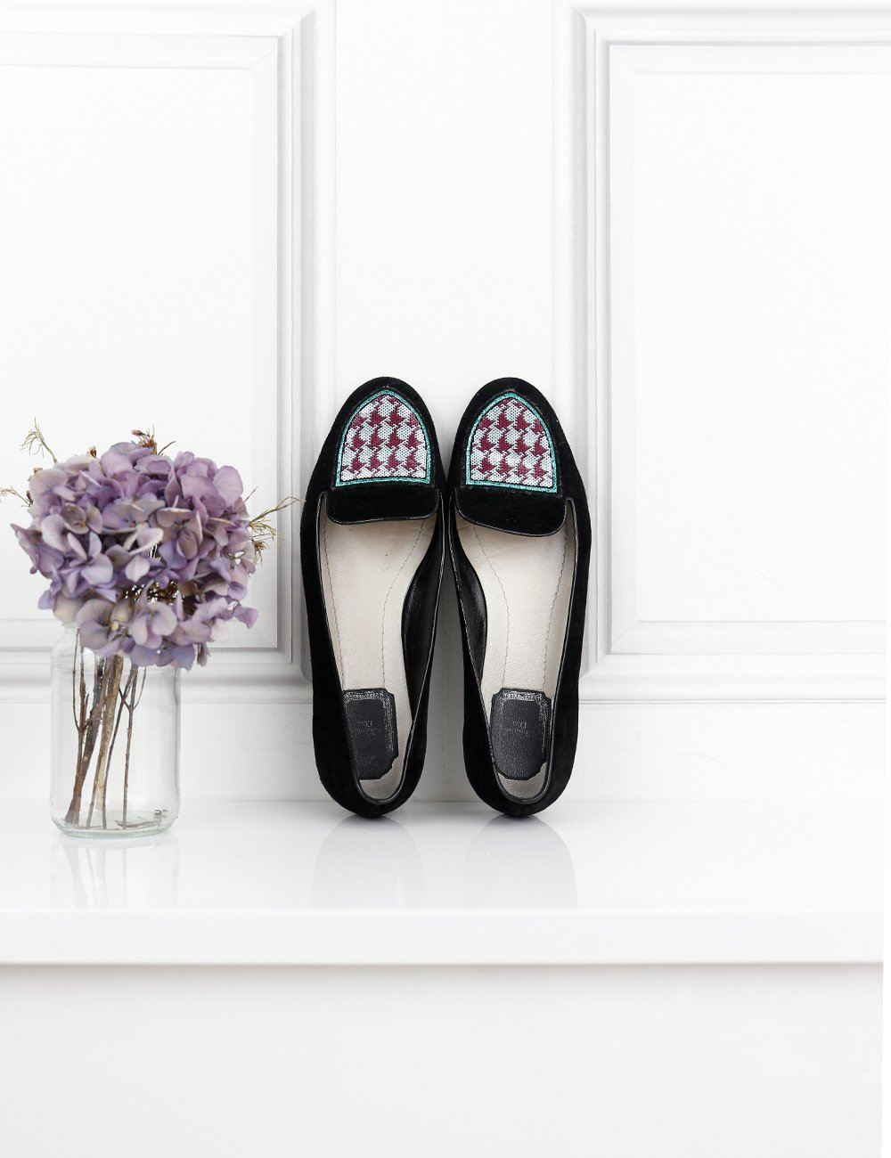 DIOR MULTICOLOUR SUEDE SLIPPERS WITH SEQUINNED DETAILS 7.5UK- My Wardrobe Mistakes