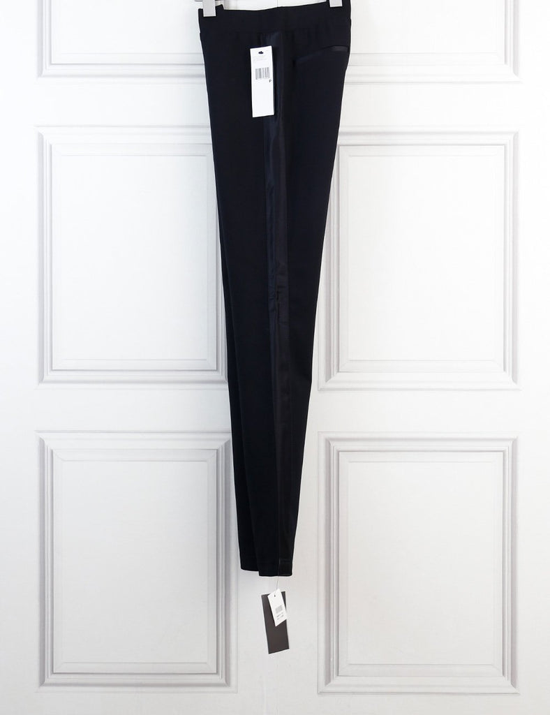 DKNY black leggings with side satin panels 6Uk