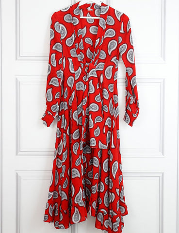 Dodo Bar Or multicolour Lennon paisley print silk crepe midi dress 8UK- My Wardrobe Mistakes