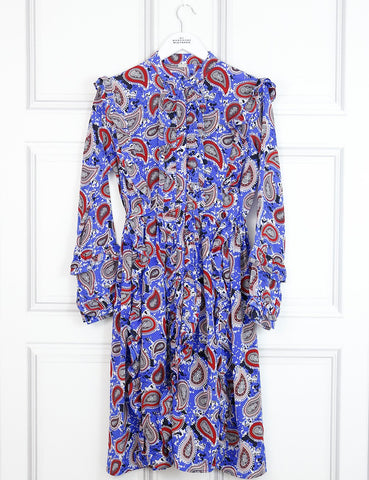 Dodo Bar Or multicolour paisley print shirt dress with ruffles 8Uk- My Wardrobe Mistakes