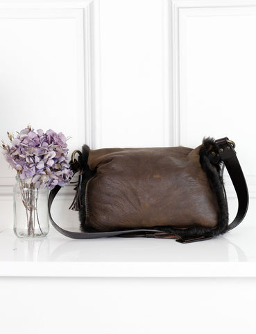 DOLCE & GABBANA BAGS Brown / One size DOLCE & GABBANA Butterfly shoulder bag