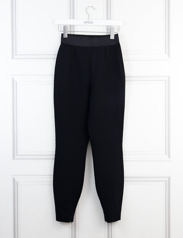 Dolce&Gabbana black wool crepe band leggings 6Uk- My Wardrobe Mistakes