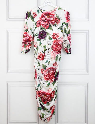 Dolce&Gabbana multicolour floral fitted dress 8Uk- My Wardrobe Mistakes