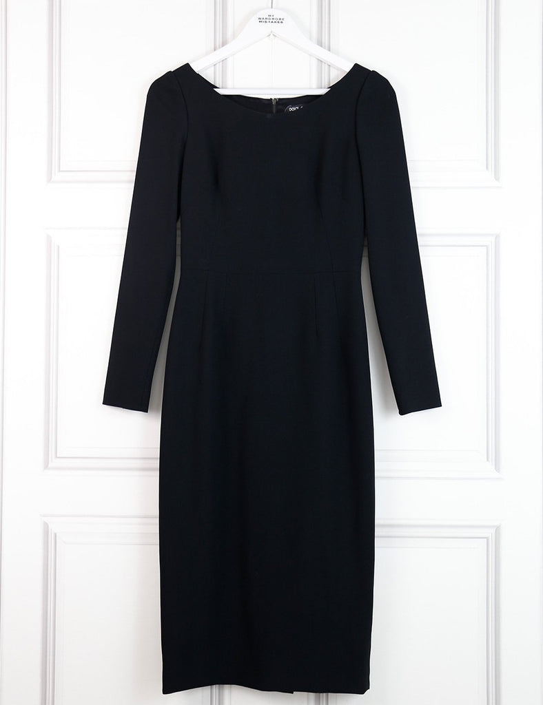 Dolce&Gabbana black mid-length structured dress 8UK- My Wardrobe Mistakes
