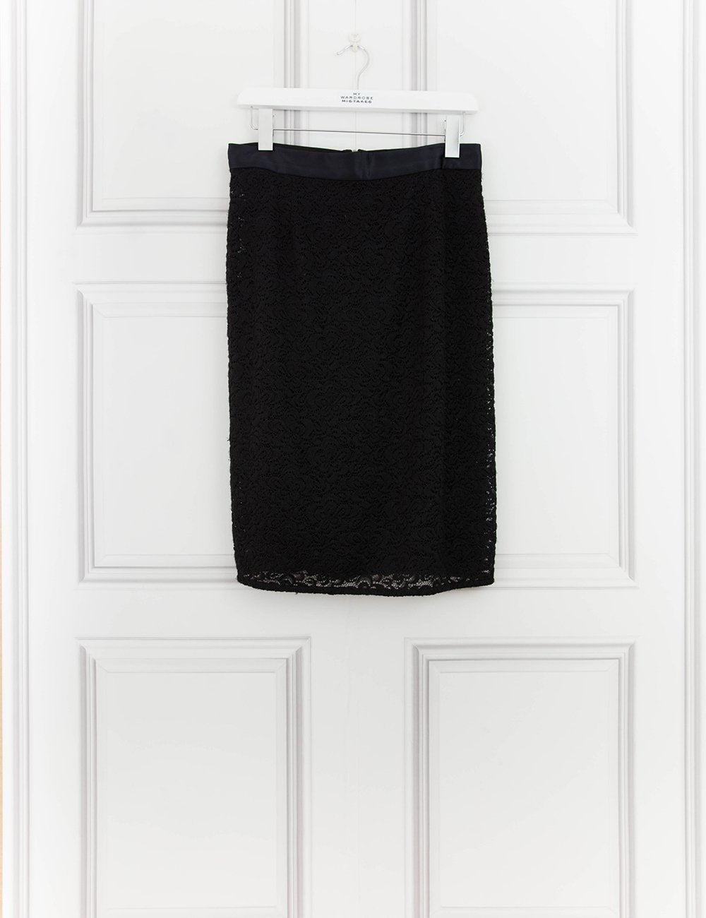 DOLCE & GABBANA CLOTHING Knee length lace pencil skirt with pearls