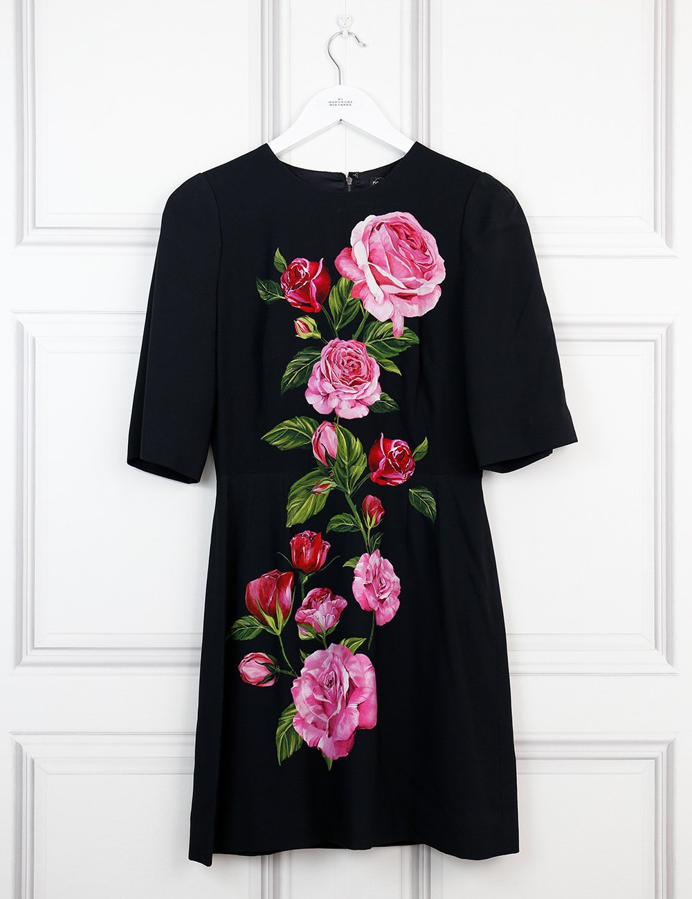 Dolce&Gabbana multicolour A-line dress with rose motif 8UK- My Wardrobe Mistakes