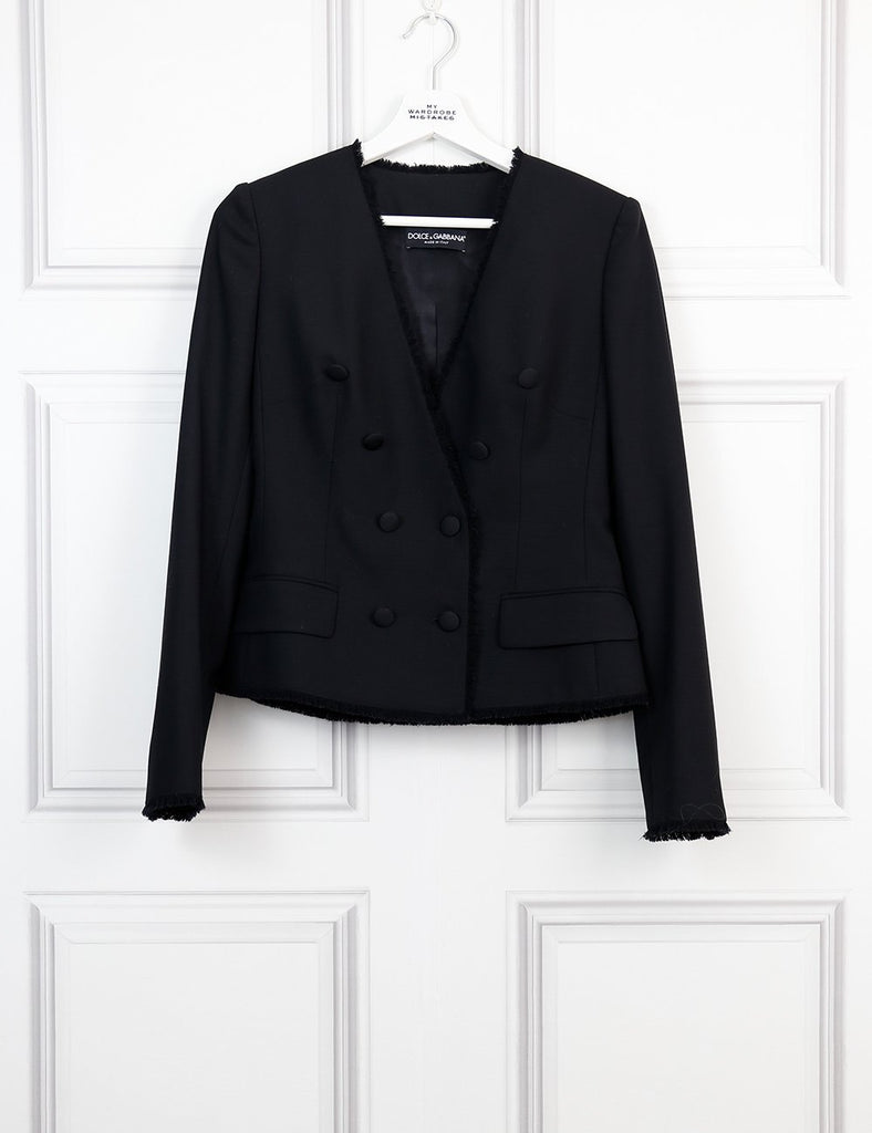 DOLCE & GABBANA CLOTHING Raw edged jacket with feature buttons