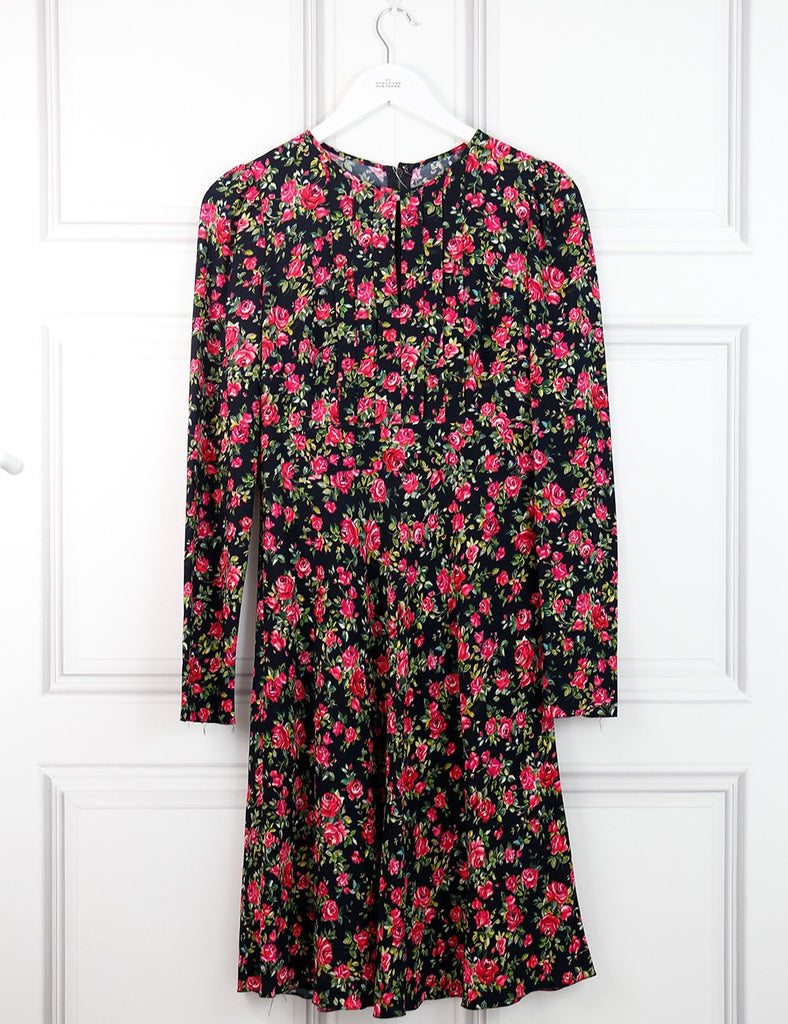 Dolce&Gabbana red mid-length dress with floral pattern 8Uk- My Wardrobe Mistakes