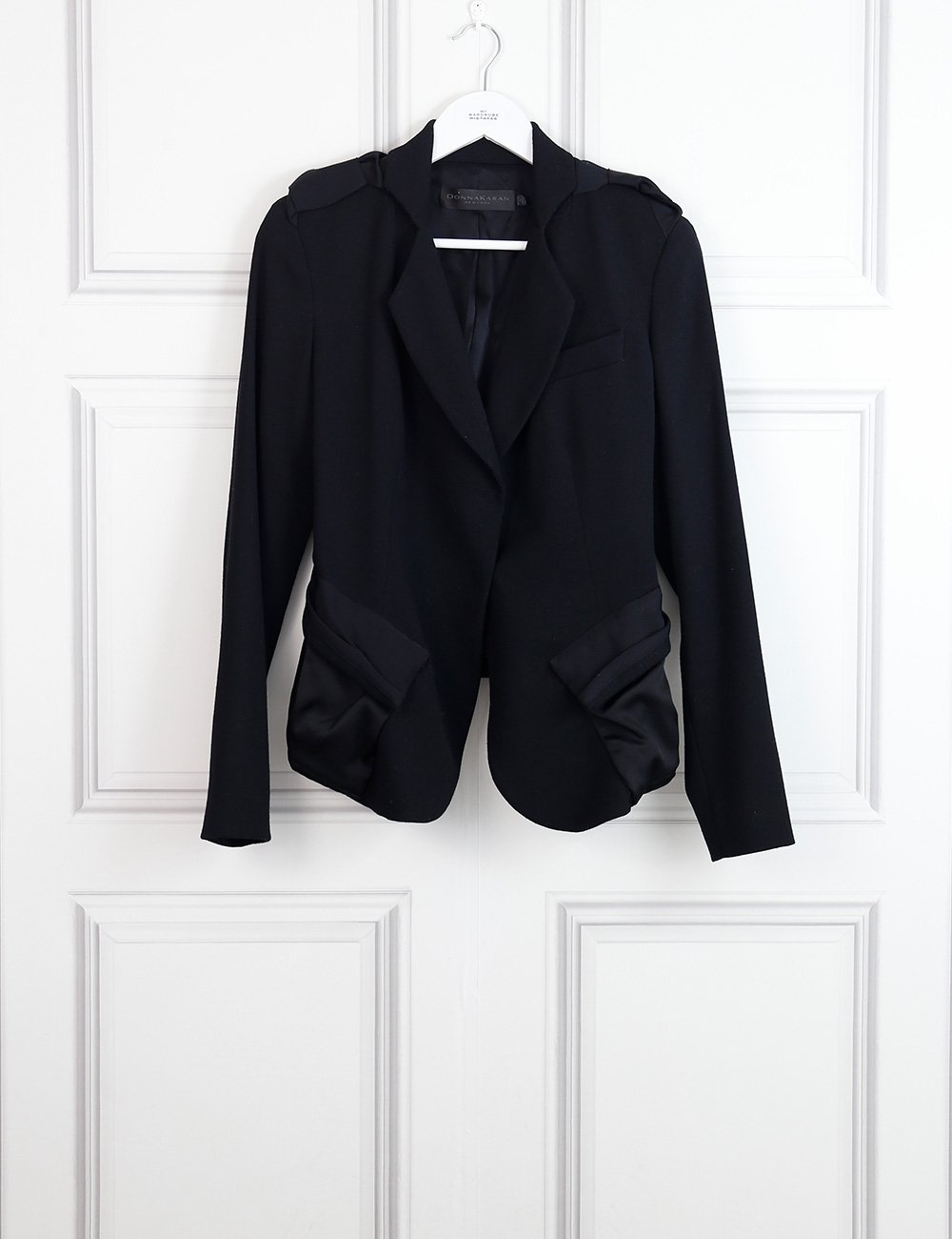 Donna Karan black tailored jacket with details 14 Uk- My Wardrobe Mistakes