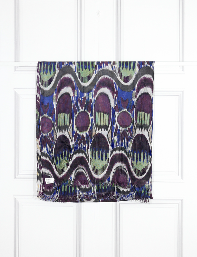 DRIES VAN NOTEN ACCESSORIES Peacock feather print scarf- My Wardrobe Mistakes