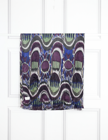 DRIES VAN NOTEN ACCESSORIES Peacock feather print scarf