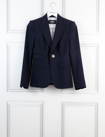 DSquared2 blue classic tailored suit 6Uk- My Wardrobe Mistakes