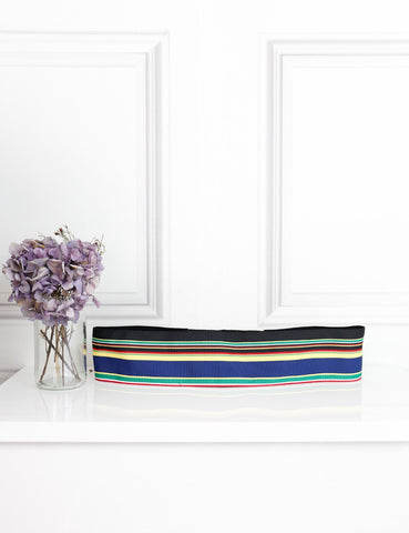 Diane Von Furstenberg multicolour striped large belt- My Wardrobe Mistakes