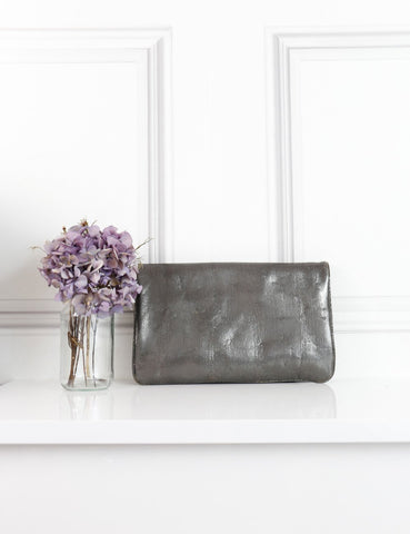 Diane von Furstenberg bronze Philomena clutch with power stones- My Wardrobe Mistakes