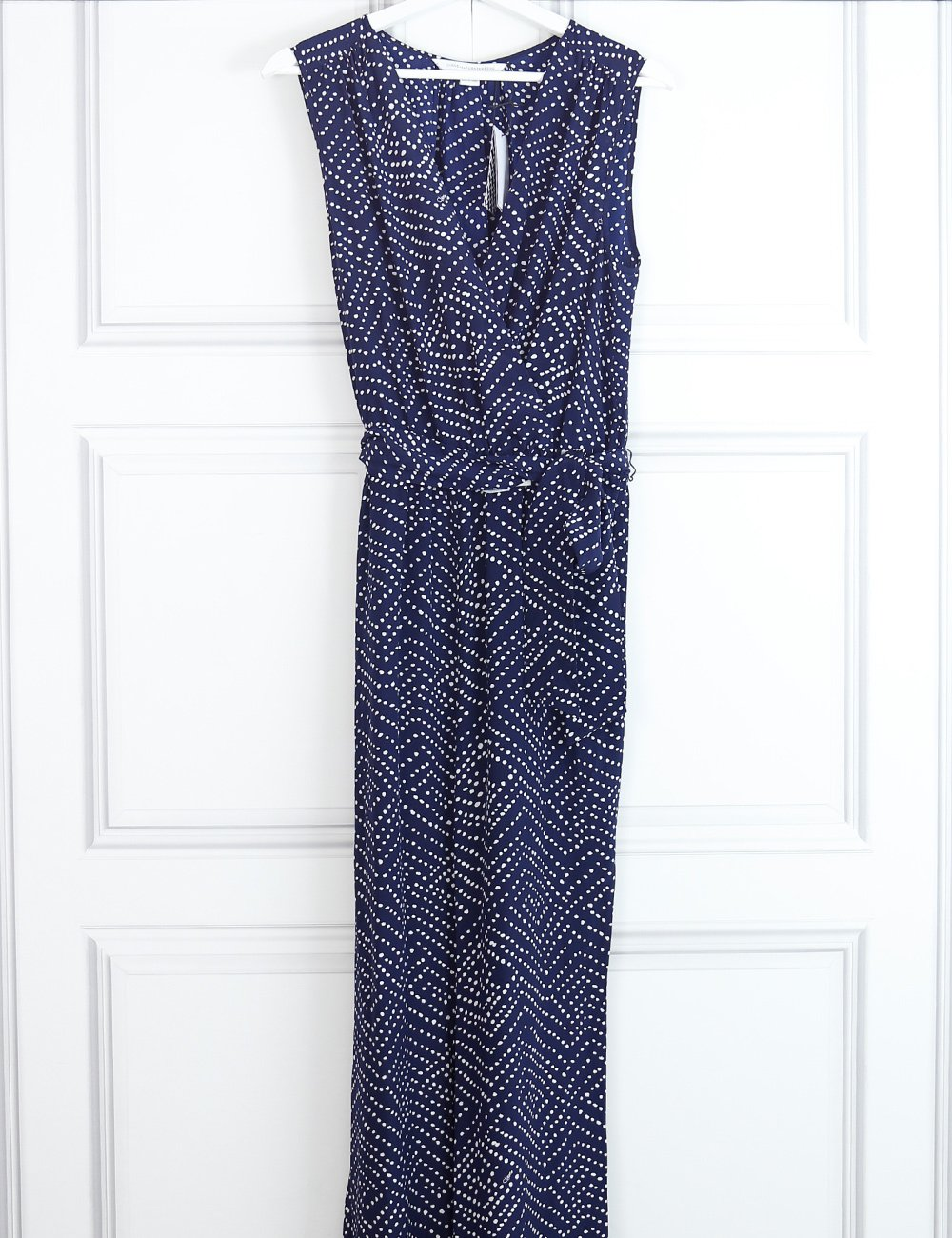 Diane Von Furstenberg multicolour Eva batik print sleeveless silk jumpsuit 10 UK- My Wardrobe Mistakes