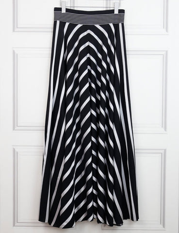 Diane Von Furstenberg multicolour striped maxi skirt 14Uk