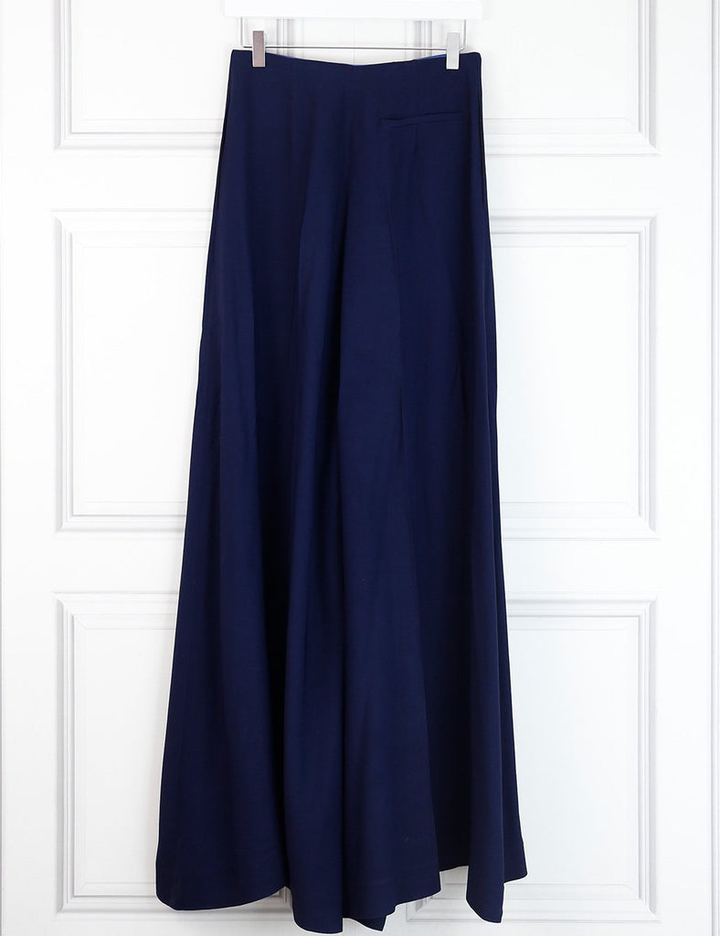 Diane Von Furstenberg blue wide leg trousers 8Uk- My Wardrobe Mistakes