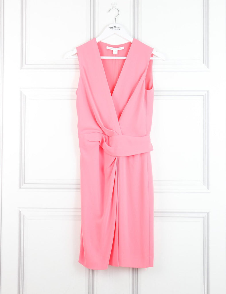 Diane von Furstenberg pink sleeveless tailored dress 4UK- My Wardrobe Mistakes