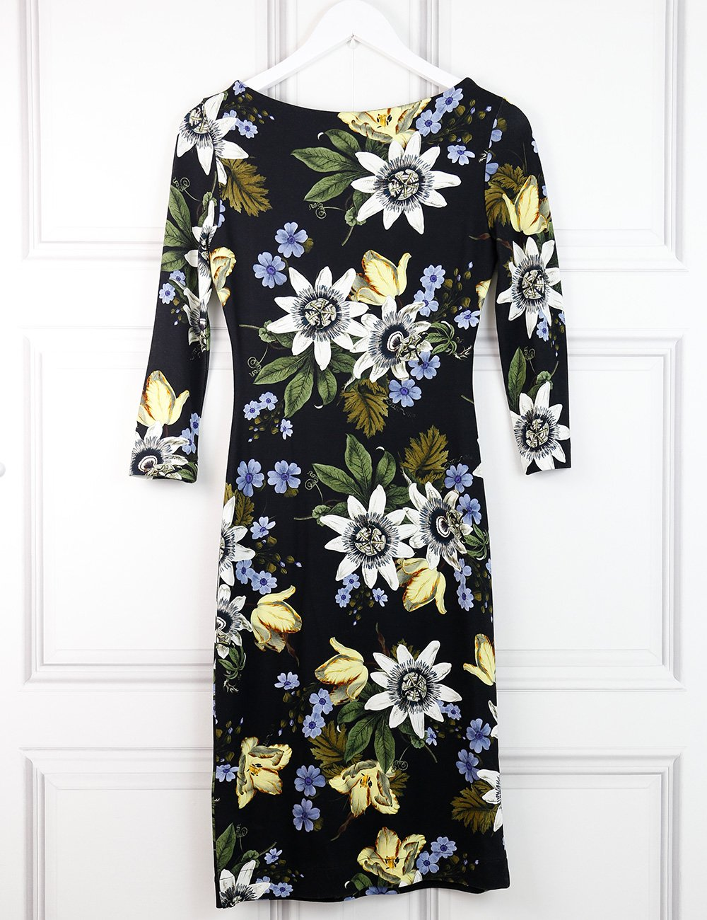 Erdem multicolour Varo Passion print fitted dress 8UK- My Wardrobe Mistakes
