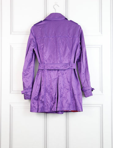 Etro purple trench coat 12UK- My Wardrobe Mistakes