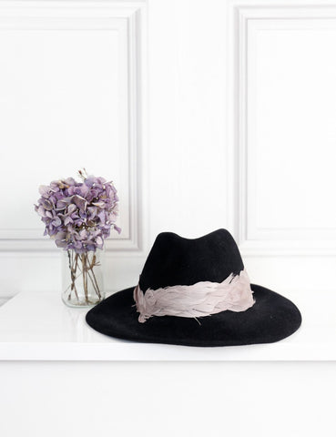 Eugenia Kim felt fedora hat with feathers- My Wardrobe Mistakes