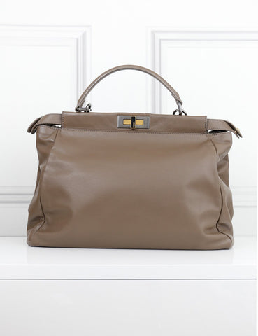 Fendi taupe Peekaboo bag- My Wardrobe Mistakes