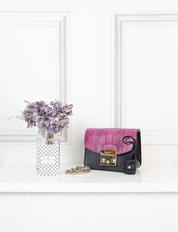 FURLA BAGS One size / Multicolour FURLA My Play Interchangeable Metropolis Mini Leather Crossbody