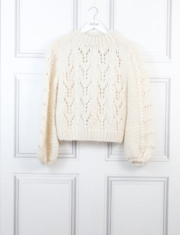 Ganni cream the Juilliard mohair blend sweater