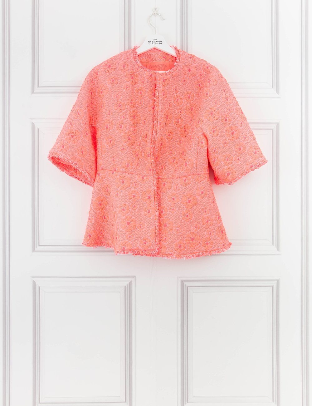 GIAMBATTISTA VALLI CLOTHING Flared Cloque Jacket- My Wardrobe Mistakes