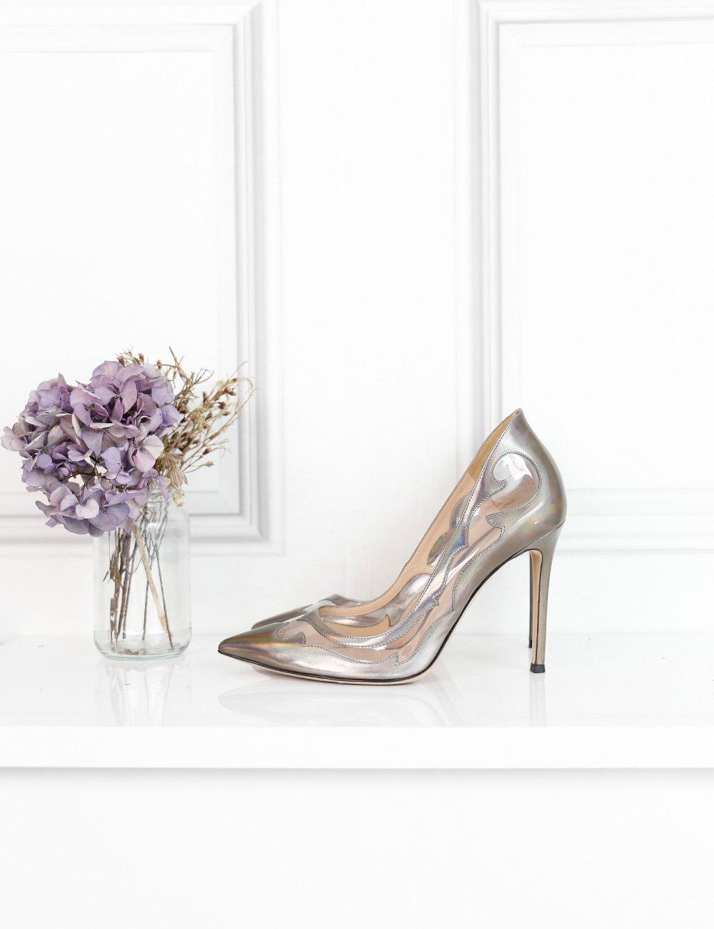Gianvito Rossi multicolour pointed toe pumps with sheer details 5.5UK- My Wardrobe Mistakes