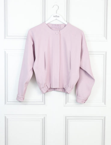 Giorgio Armani pink bomber jacket 8Uk- My Wardrobe Mistakes