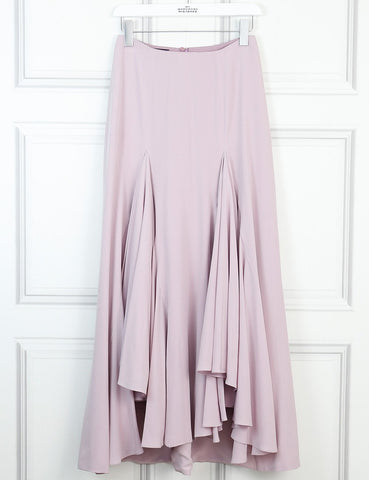 Giorgio Armani pink silk waterfall midi skirt 8Uk- My Wardrobe Mistakes