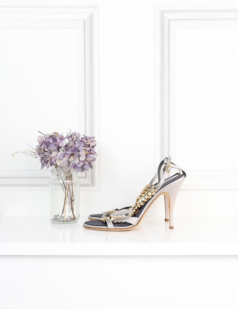 GIUSEPPE ZANOTTI SHOES 6.5UK-39.5IT-40.5FR / Multicolour GIUSEPPE ZANOTTI Rhinestones T-bar sandals