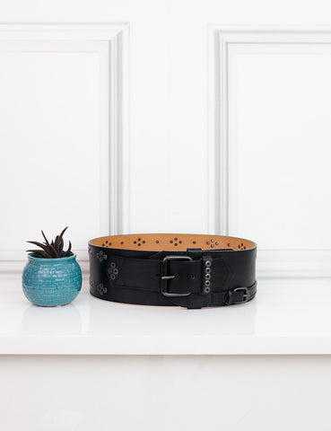 GIVENCHY ACCESSORIES M / Black GIVENCHY Large Belt with Studs