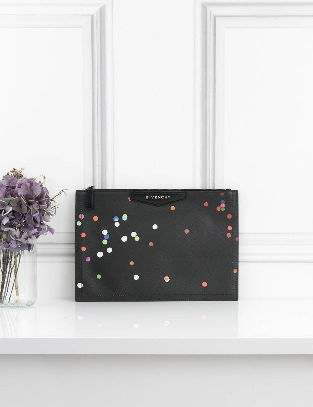 GIVENCHY BAGS Confetti pattern cluch