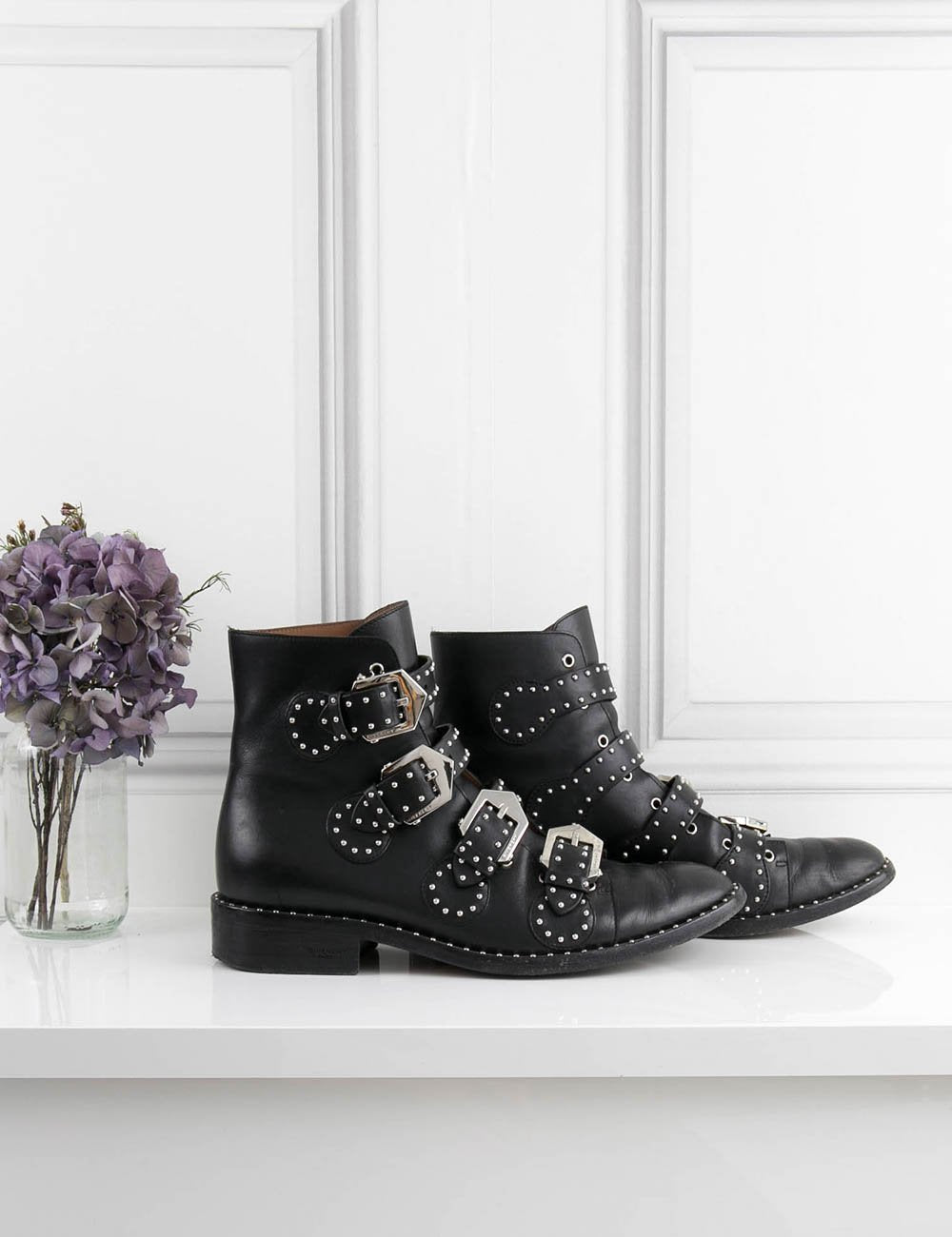 GIVENCHY SHOES Ankle Boots with studs