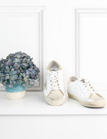 GOLDEN GOOSE SHOES 4UK-37IT-38FR / White GOLDEN GOOSE Private Edition Sneakers with fur details