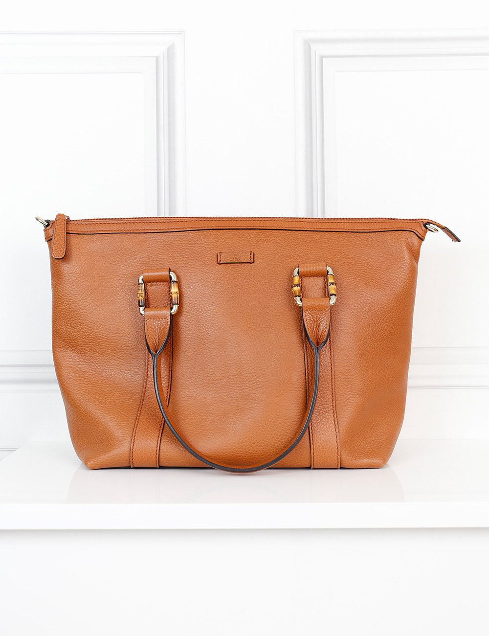 Gucci tan zipped tote bag with bamboo details- My Wardrobe Mistakes
