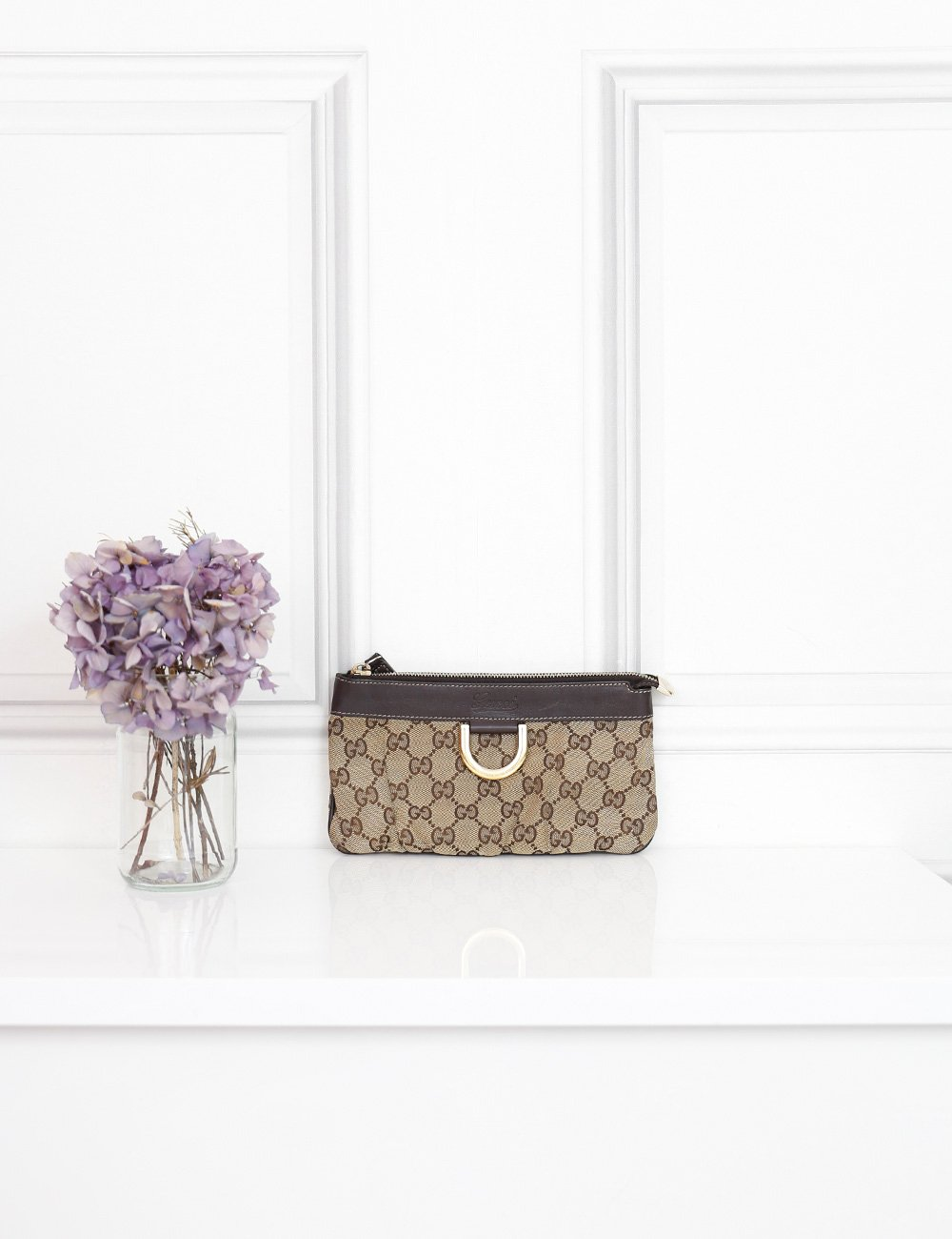 Gucci multicolour small GG monogram clutch