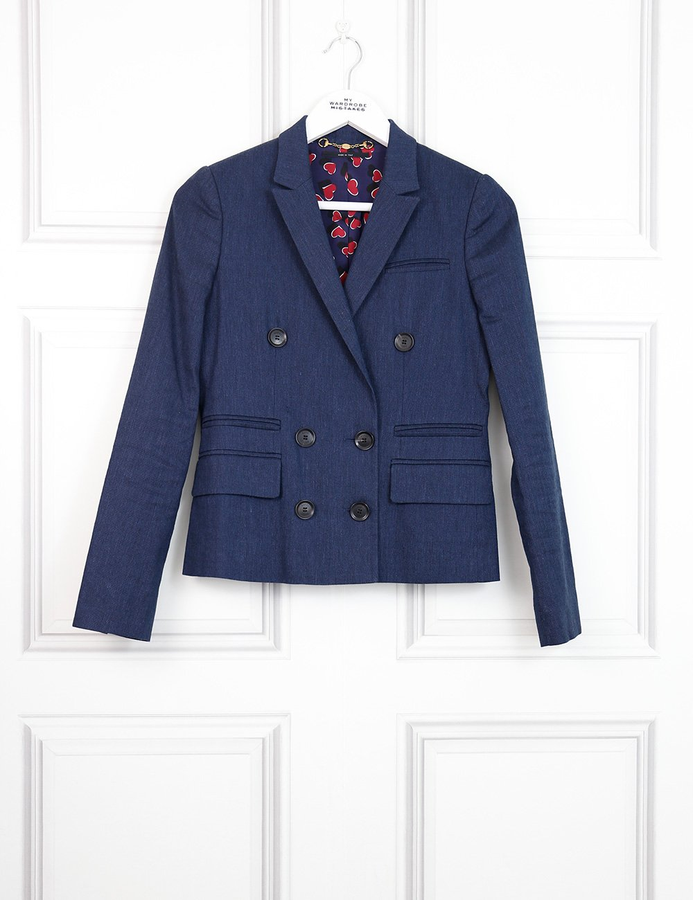 Gucci blue double breasted jacket 10Uk- My Wardrobe Mistakes
