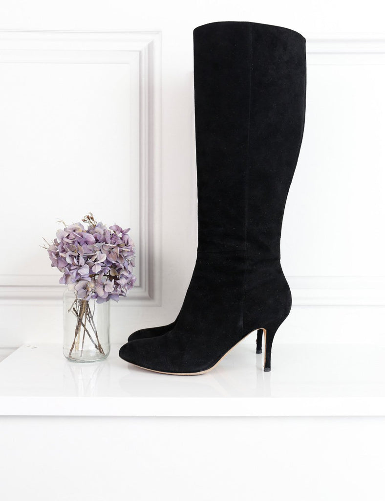 Gucci black suede mid-length boots with stiletto heels 5.5Uk- My Wardrobe Mistakes