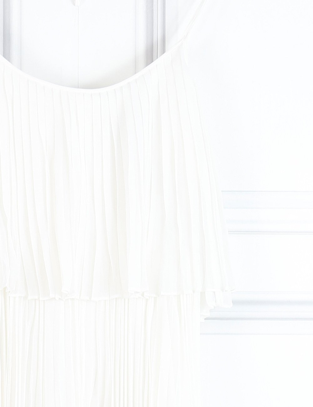 Halston Heritage white sleeveless long pleated dress 6UK- My Wardrobe Mistakes