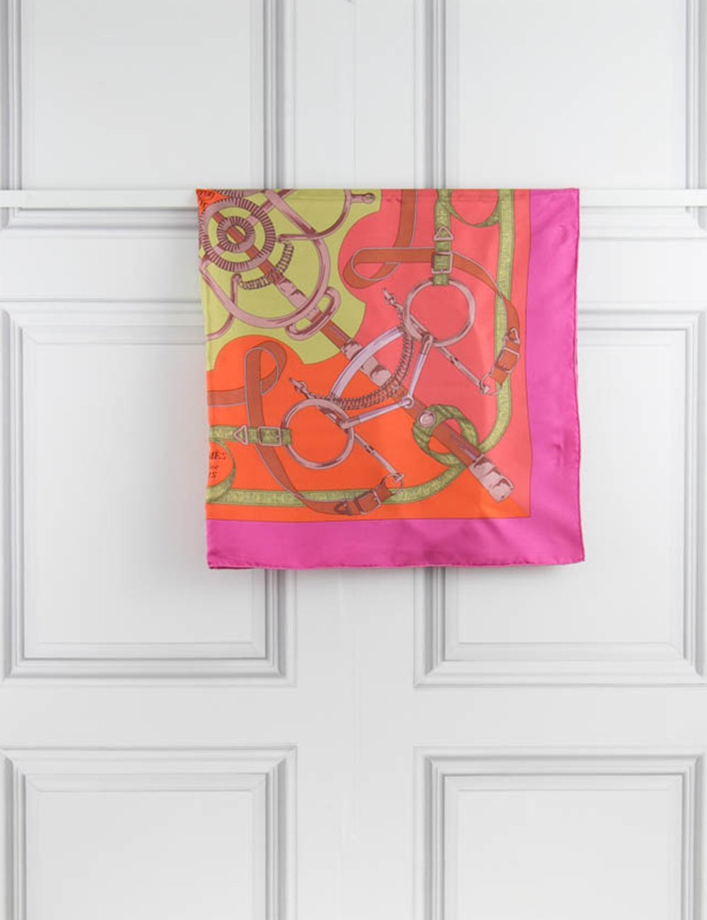 "HERMES ACCESSORIES ""Eperon d'or"" carre 90 X 90cm - scarf"