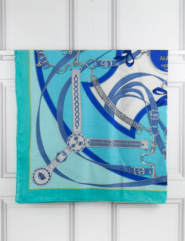 "HERMES ACCESSORIES "" La Promenade du Matin"" shawl 140 x 140 cm- My Wardrobe Mistakes"