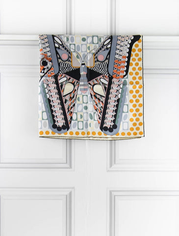 "HERMES ACCESSORIES ""Les ailes de la soie "" carre 90 X 90cm- scarf- My Wardrobe Mistakes"