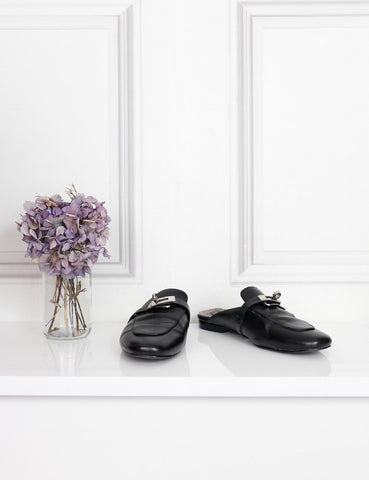 Hermes black Oz mules 3Uk